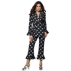 Polka-Dot Frill Suit