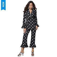 Polka-Dot Frill Suit