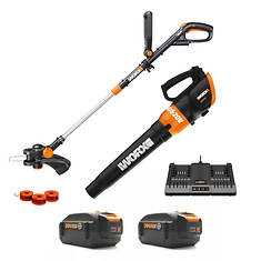 Worx 20V 4.0AH String Trimmer and Blower Combo Kit