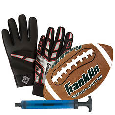 Franklin Football and Receiver Glove Set