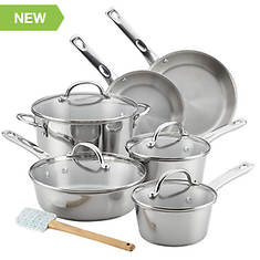 Ayesha Curry 11-Piece Stainless Steel Cookware Set