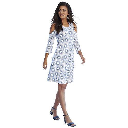 Cold Shoulder Fit-And-Flare Dress