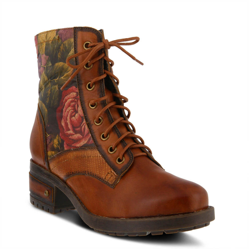 Victorian Boots & Shoes – Granny Boots & Shoes Spring Step LARTISTE Marty Womens Tan Boot Euro 35 US 5 M $159.95 AT vintagedancer.com