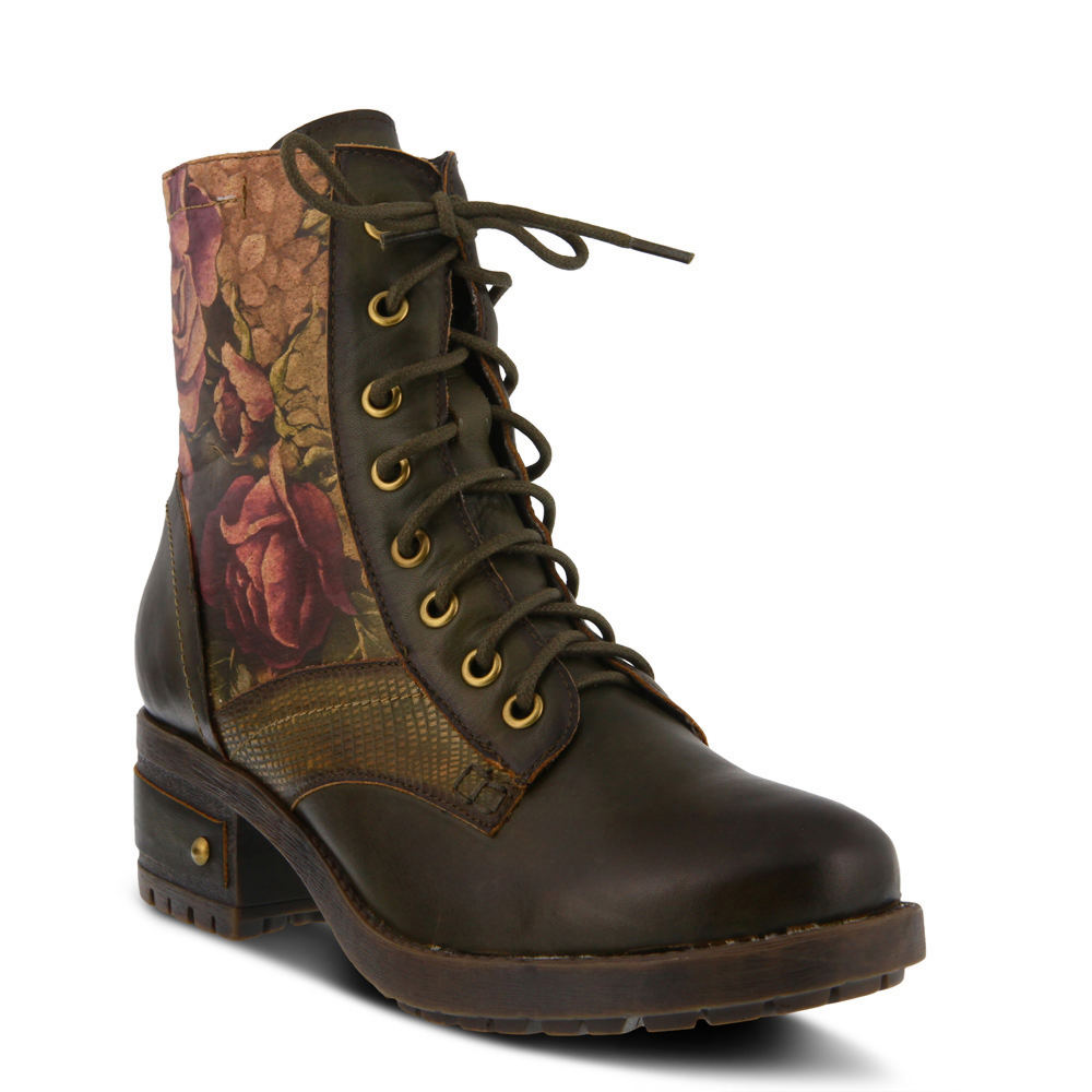 Victorian Boots & Shoes – Granny Boots & Shoes Spring Step LARTISTE Marty Womens Green Boot Euro 35 US 5 M $159.95 AT vintagedancer.com