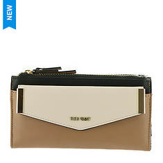 Nine West Double Zip Wallet With Removable Card Folio