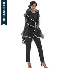 Sheer Jacket Suit Set