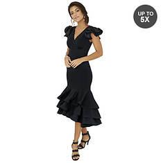 Layered Ruffle-Trim Dress