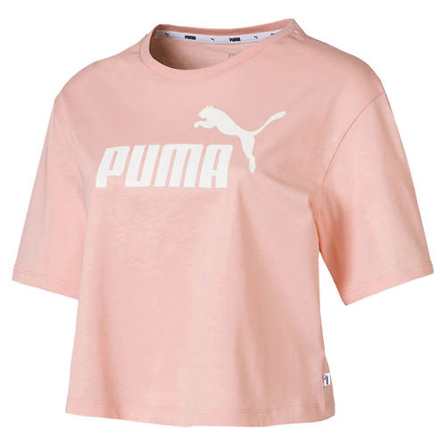 PUMA Women's Ess+ Cropped Logo Tee