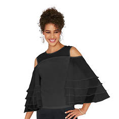 Dramatic Ruffle-Sleeved Top