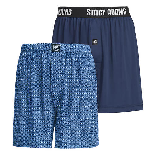 Stacy Adams Men's 2-Pack Boxer Shorts