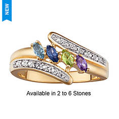 Personalized Birthstone/Diamond Mother's Ring
