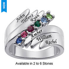 Personalized Birthstone/Family Names Ring