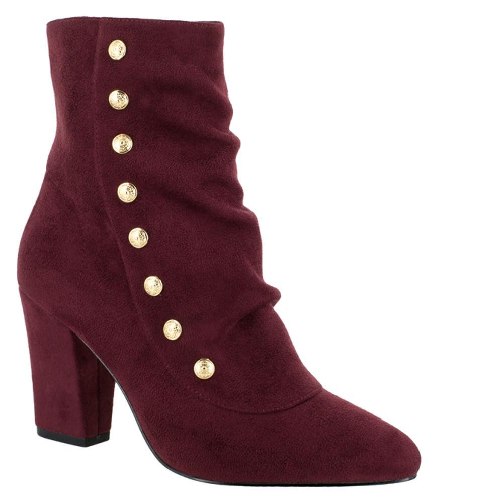 Retro Boots, Granny Boots, 70s Boots Bella Vita Gillian II Womens Burgundy Boot 12 W2 $89.95 AT vintagedancer.com