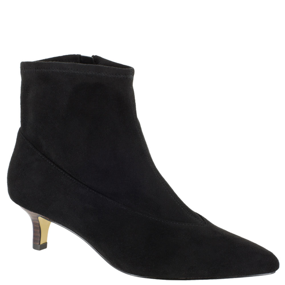 1950s Style Shoes | Heels, Flats, Saddle Shoes Bella Vita Stephanie II Womens Black Boot 8 W2 $89.95 AT vintagedancer.com