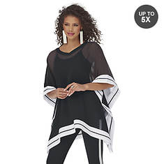 Ribbon Trim Poncho