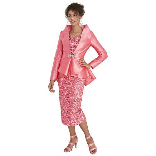 High-Low Lace Suit