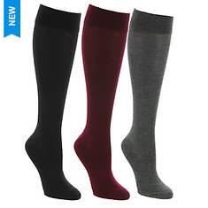 Steve Madden Women's SM2718C 3-Pack Knee High Socks