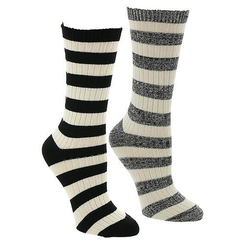 Steve Madden Women's SM42219C 2PK Boot Socks