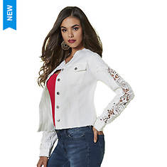 Cutout Lace-Sleeve Jacket