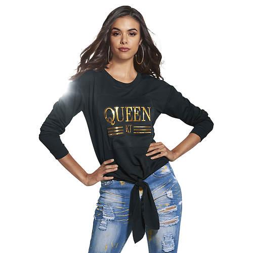 Queen Tie-Front Sweatshirt