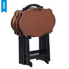 5-Piece Serpentine Tray Table Set