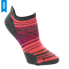 Smartwool Women's PhD Run Ultra Light Striped Micro Socks