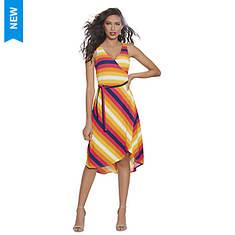 Surplice Wrap Midi Dress