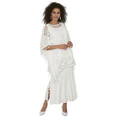 Tassle-Trimmed Skirt Set