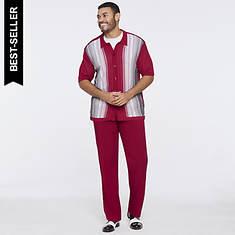 Stacy Adams Men's Gradient Knit Set