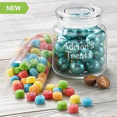 Personalized Glass Candy Dish w/Treats