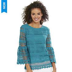 Crochet Bell-Sleeve Top