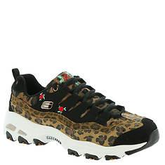 Skechers Sport D'Lites-Leopard Rose (Women's)