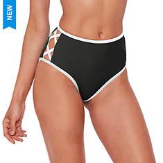 Contrast-Trim Bikini Bottom