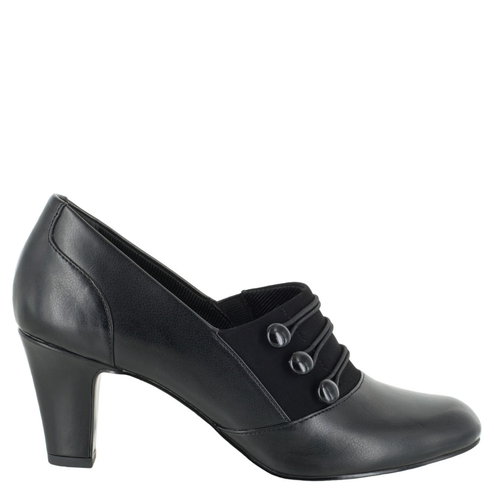Retro Vintage Style Wide Shoes Easy Street Pearl Womens Black Pump 8.5 W2 $59.95 AT vintagedancer.com