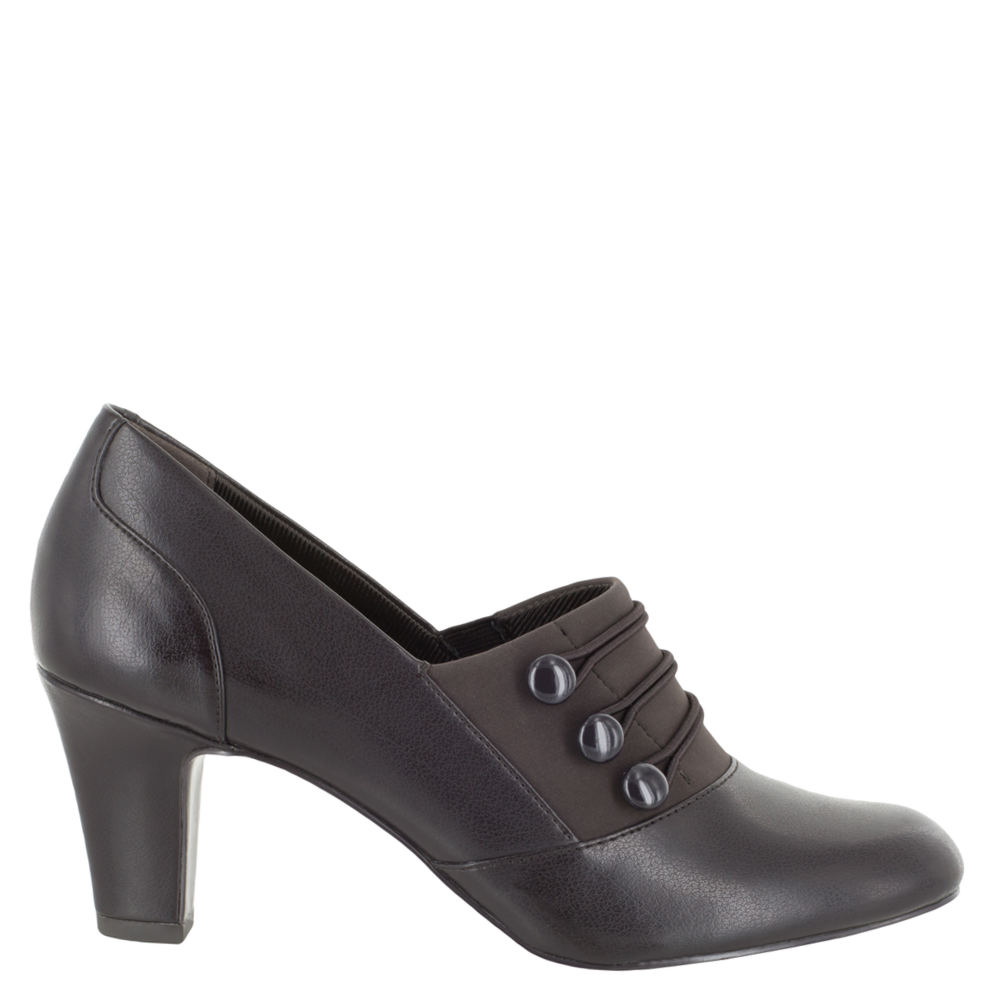 Retro Vintage Style Wide Shoes Easy Street Pearl Womens Brown Pump 8.5 W $59.95 AT vintagedancer.com