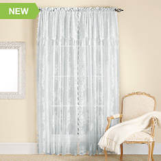 Carly Lace Panel with Attached Valance