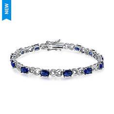 Blue Sapphire Infinity Bracelet