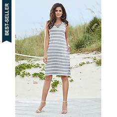 Crisscross-Front Knit Dress