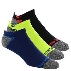 New Balance Men's LAS44223 Run No Show 3-Pack Socks