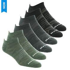 New Balance Men's LAS03226 Flat Knit No-Show 6-Pack Socks
