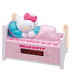 Hello Kitty Dual Alarm Clock Radio with Night Light and Digital Tuning