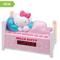 Hello Kitty Dual Alarm Clock Radio with Night Light and Digital Tuning