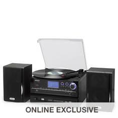 Jensen 3-Speed Stereo Turntable CD Recording System