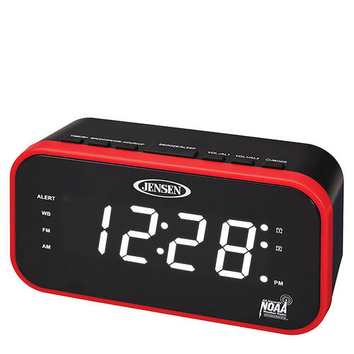 Jensen AM/FM Weather Band Clock Radio