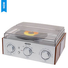 Jensen 3-Speed Turntable with AM/FM Receiver & Stereo Speakers