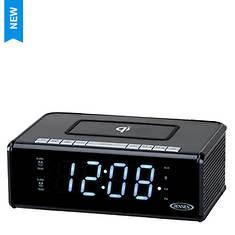 Jensen Dual Alarm Clock Radio with Qi Charging