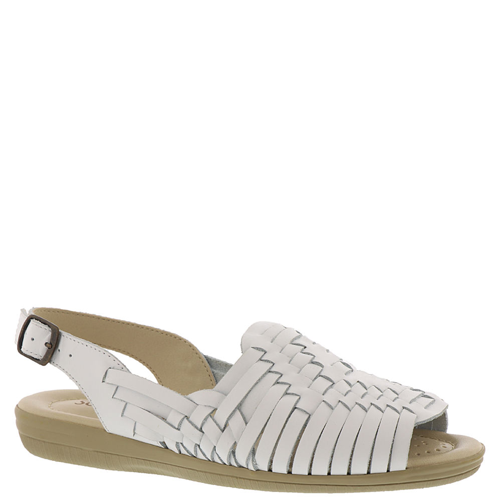 80s Shoes, Sneakers, Jelly flats Softspots Sunrise Womens White Sandal 9.5 W $38.99 AT vintagedancer.com