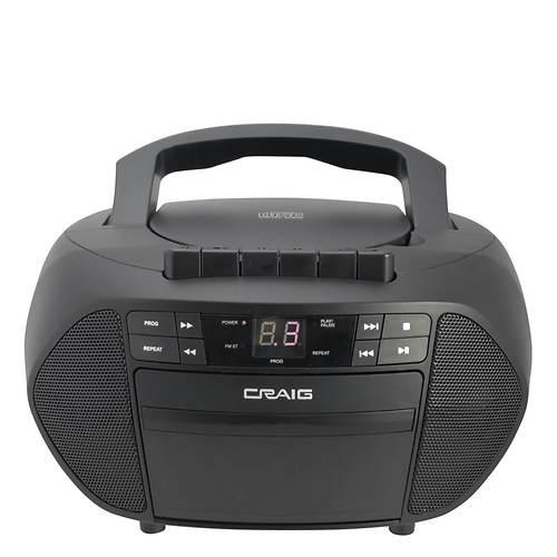Craig CD/Cassette Boombox with Radio