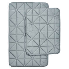 Prism-Pattern Memory Foam Bath Mat Set