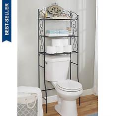 Live Laugh Love 3-Tier Toilet Shelf